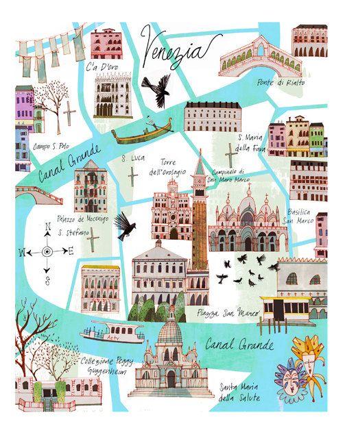 que faire et visiter à venise : Carte des lieux touristique à visiter