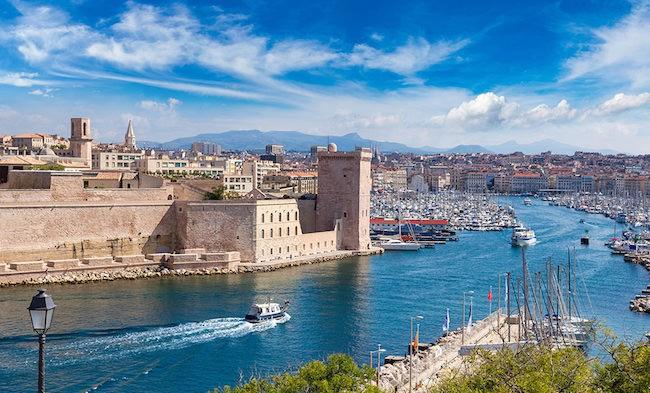 voir le vieux port de Marseille
