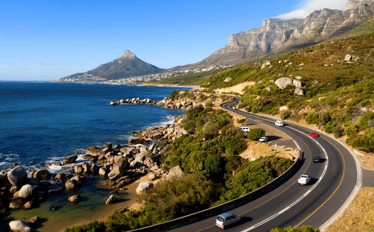 Garde Route, circuler sur la gra,nde route côtière d'Afrique du sud