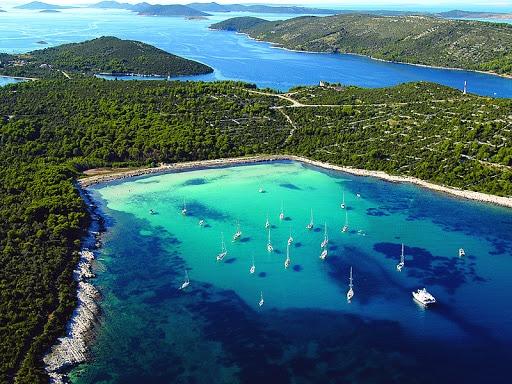 Archipel des îles Kornati en Croatie