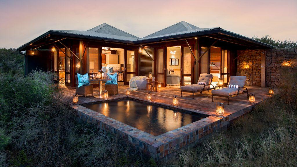 dormir dans un lodge dans la réserve naturelle  de Kwandwe Ecca