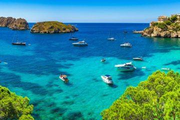 Paysage Majorque aux île Baléraes: admirer la baie