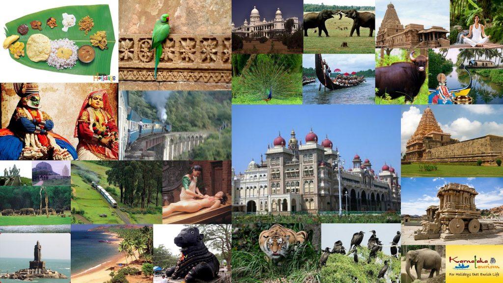 Paysages sud de l'inde .