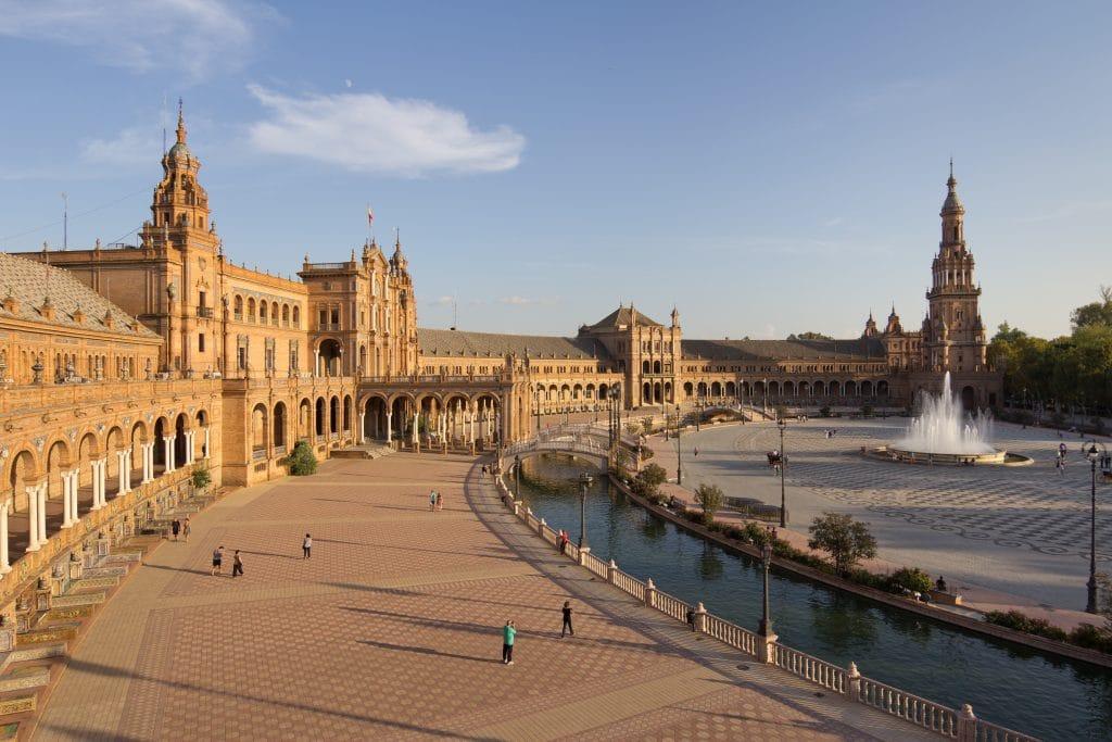 Place d'Espagne à Seville en Andalousie