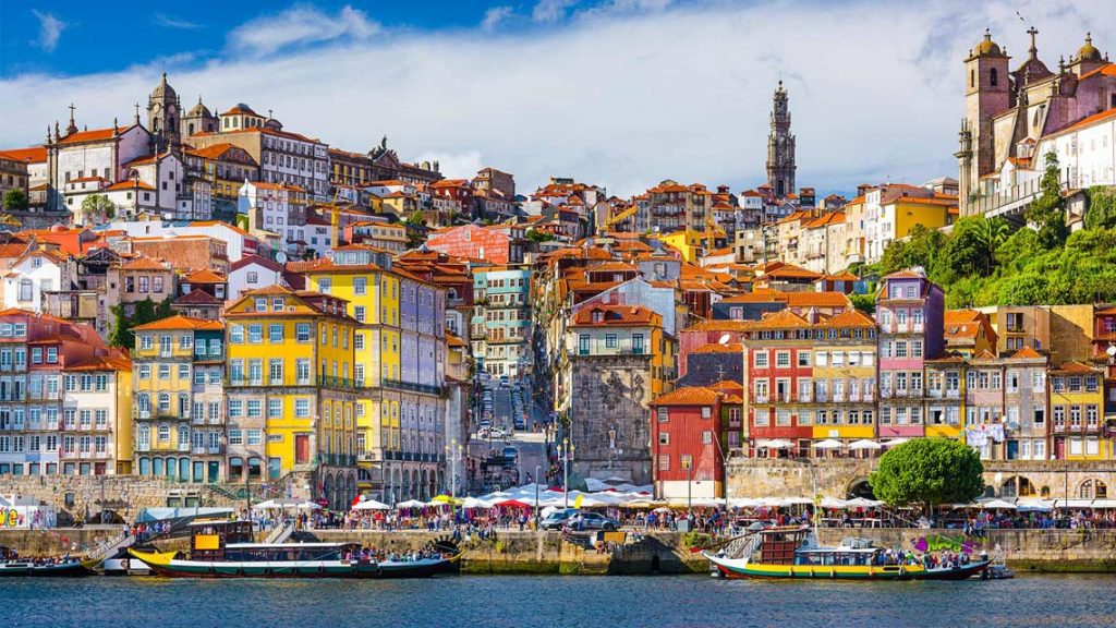 Quartier Ribeira à Porto , Portugal