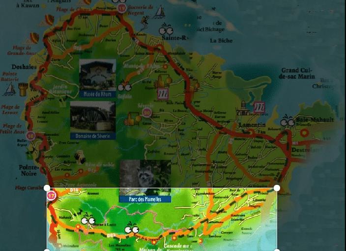 Route de la Traversée Basse terre Guadeloupe