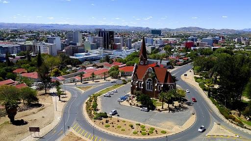 Eglise de Windhoek dans la capitale de Namibie