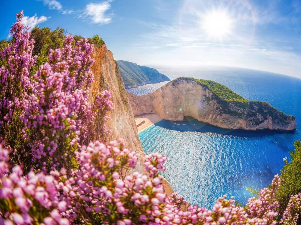 Baie du Naufrage en Grèce