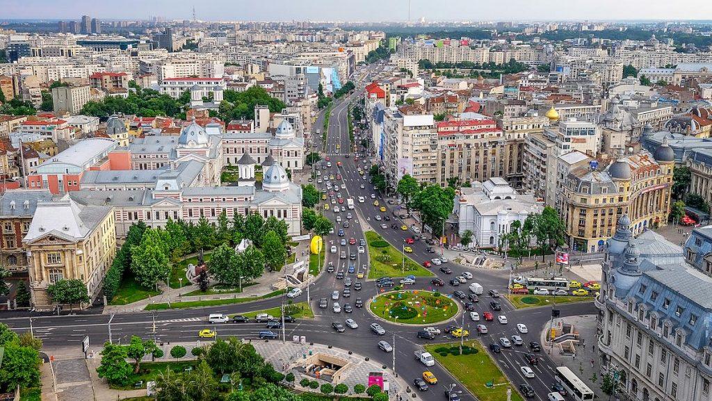 Vue aérienne de Bucarest, Roumanie