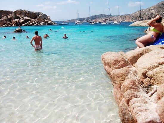 Plage de Cala Coticcio en Sardaigne