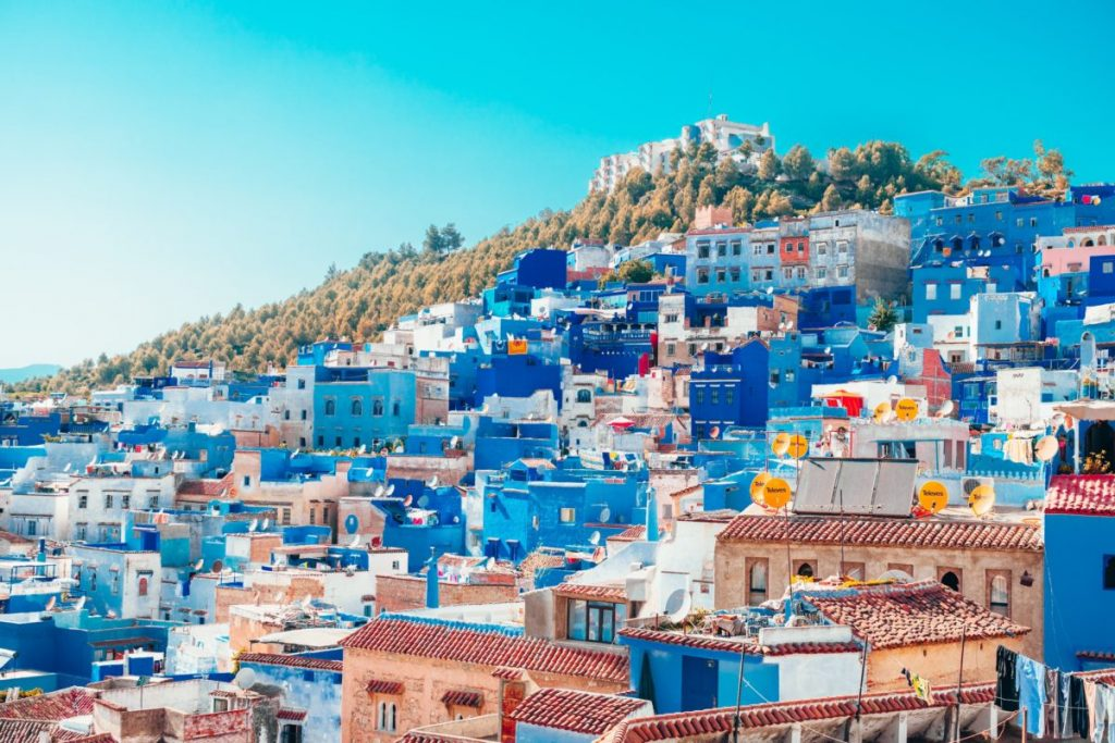 Chefchaouen : maisons bleues