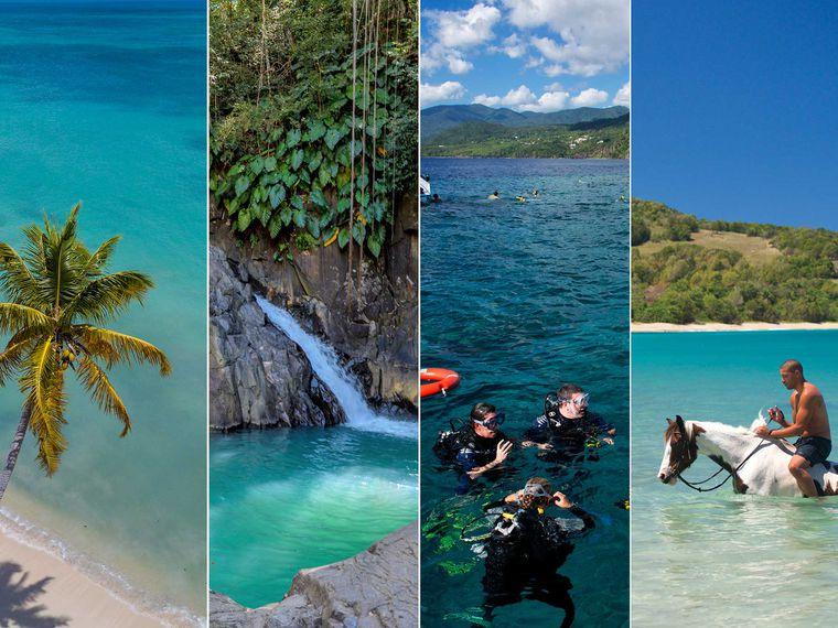 Guadeloupe : paysage plage , cascade , rivière pour partir en voyage en février