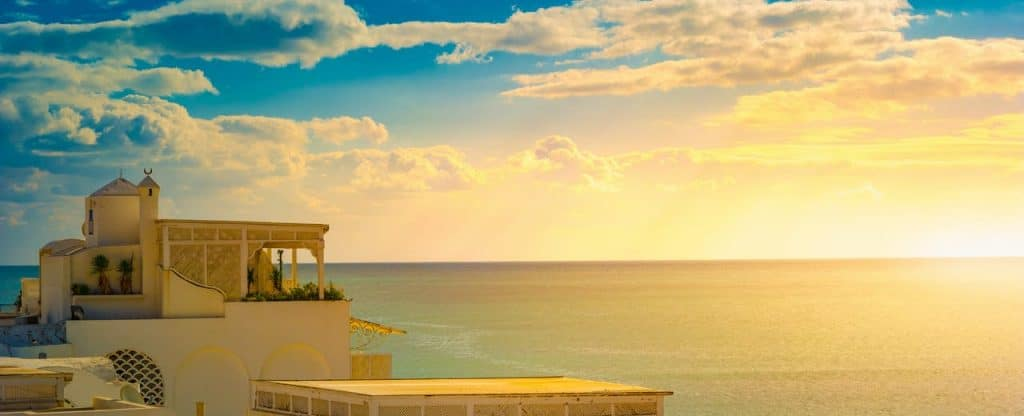 Hammamet : coucher de soleil