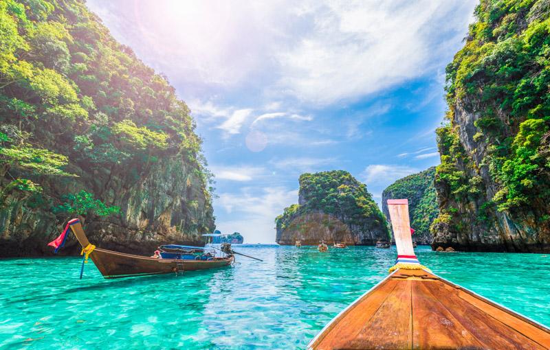 Découvrir les îles Phi Phi, archipel de Thailande, en février