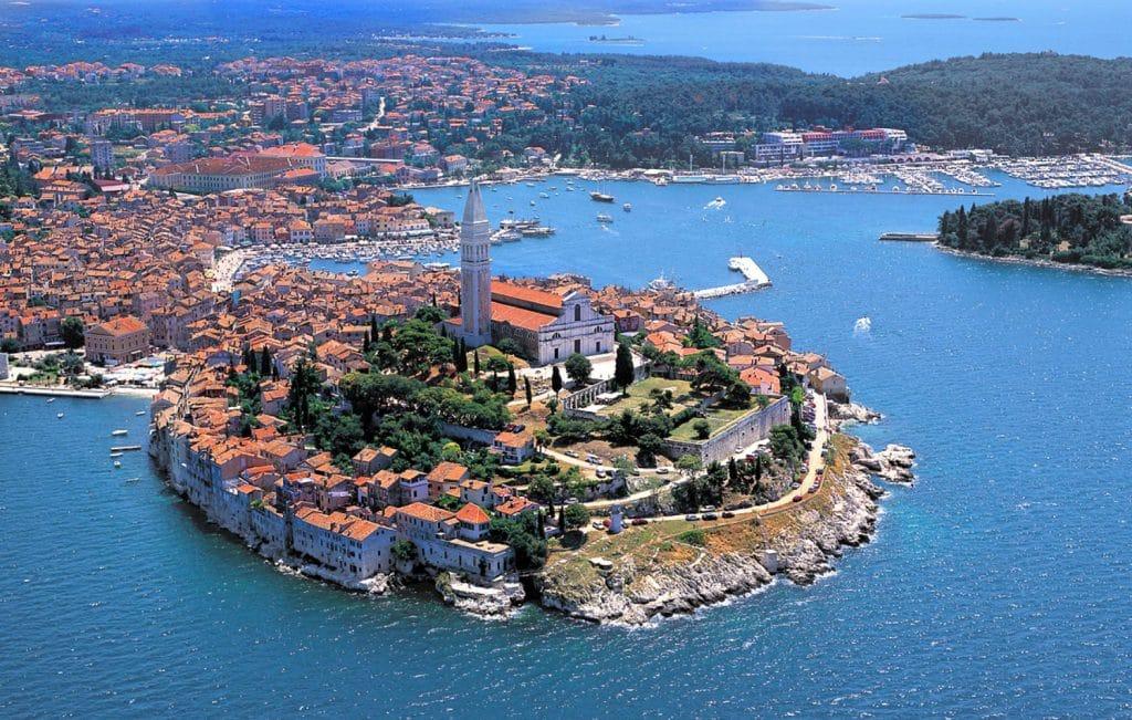 Istrie croatie , vue aérienne