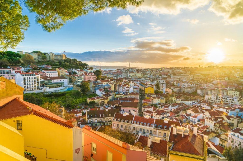 Levé de soleil à Lisbonne