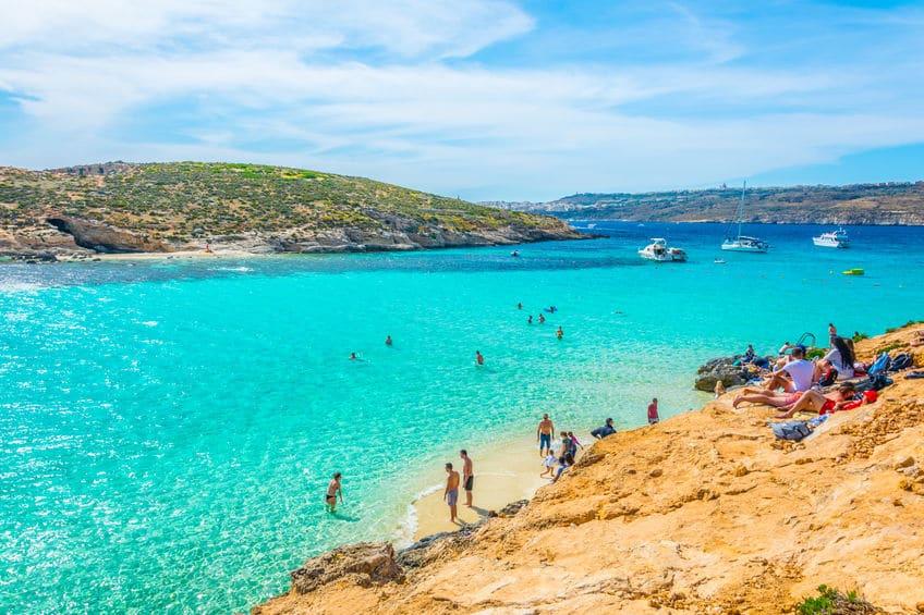 Belle plage à Malte