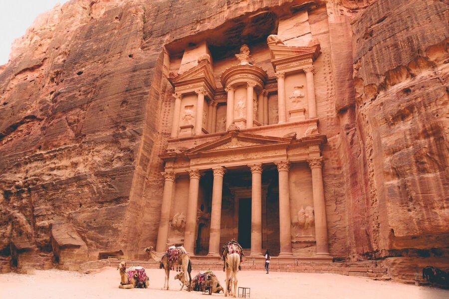 Site archéologique à Pétra, Jordanie