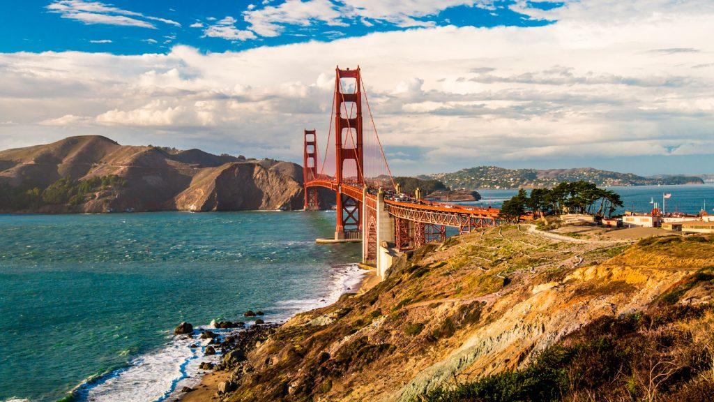 Pont Golden Gate San Francisco en avril