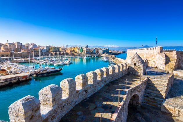Port d'Hérakion en Crète