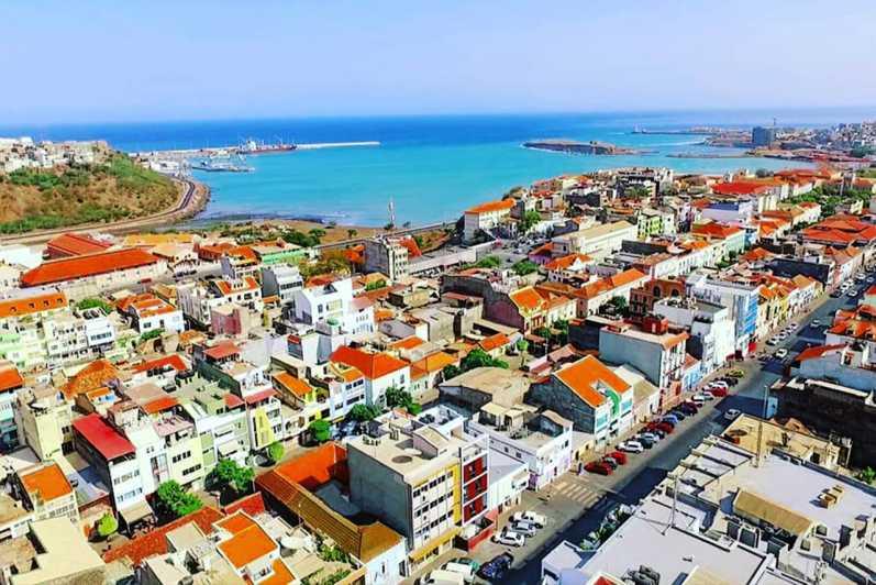 vue aérienne de Praia au Cap Vert