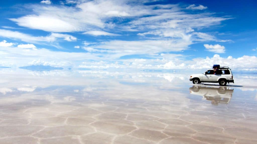 Salar Uyuni, mine de sel en Bolivie
