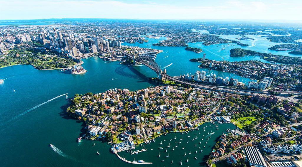 Baie de Sydney en Australie en avril