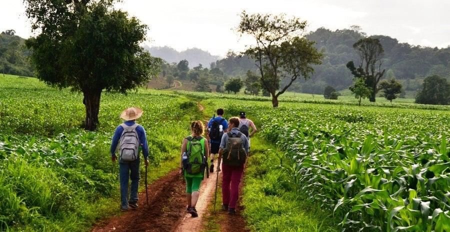Trekking , grande randonnée à Myanmar,Birmanie