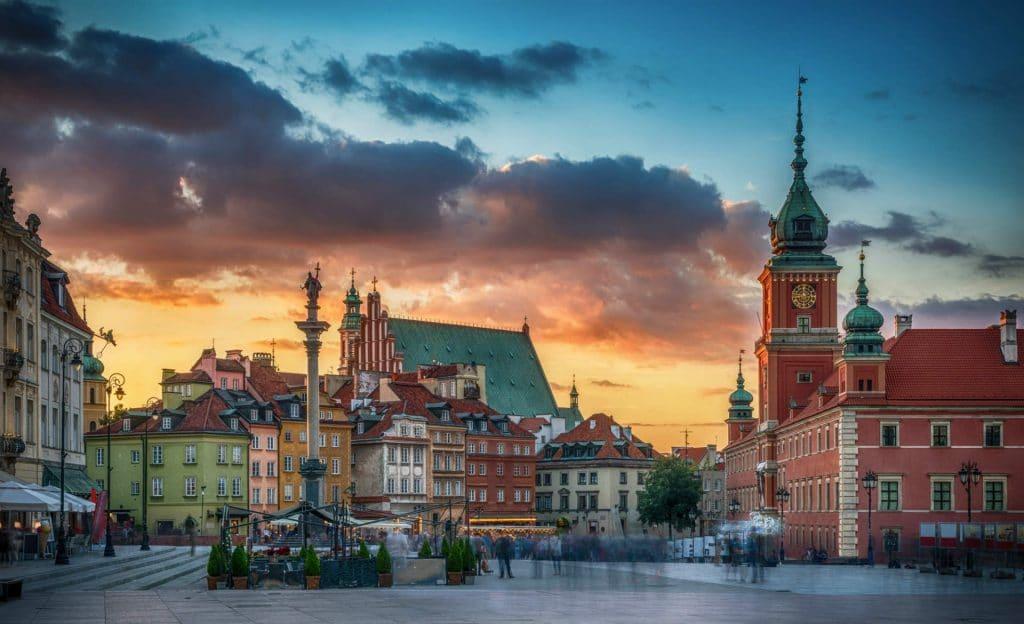 Varsovie : capitale de la Pologne en juin