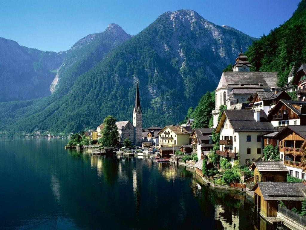 paysage en Autriche , voyage en Europe sans restriction