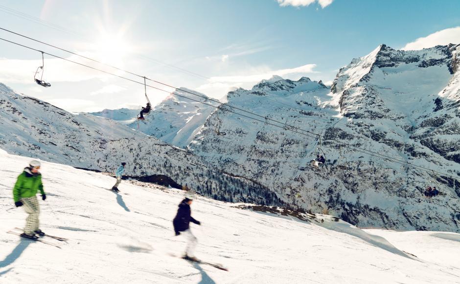Saas Fee , meilleure Station de ski en Suisse