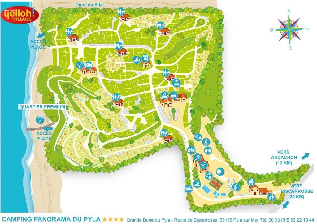 Plan du Camping Panorama Pyla